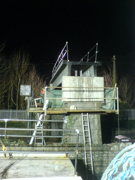 Night time possession was required to repair structural cracks, using cintec stitching anchors, at Balbriggan, Co. Dublin, Ireland