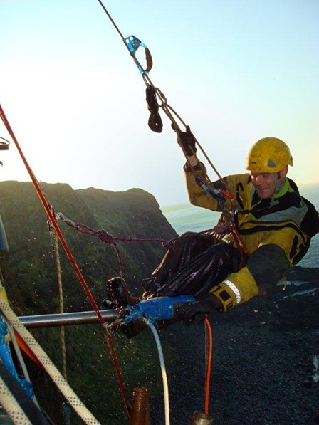 Rope access survey for structural repairs at Dunluce Castle, Co. Antrim, Northern Ireland