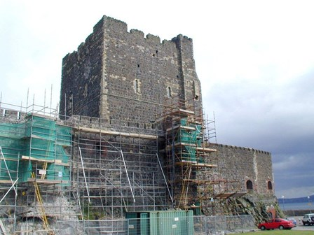 Cintec anchors were installed to repair structural masonry cracking, at Carrickfergus Castle, Co. Antrim, N. Ireland