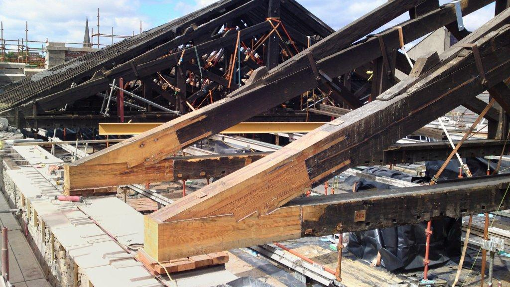 ... The Dry Rot Has Been Removed, And The Trusses Repaired Using A Timber  Resin Splice