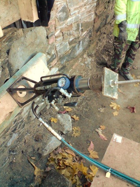 Installation and testing of the Duckbill anchor at St Malachys Wall, Bangor, Co. Down, NI
