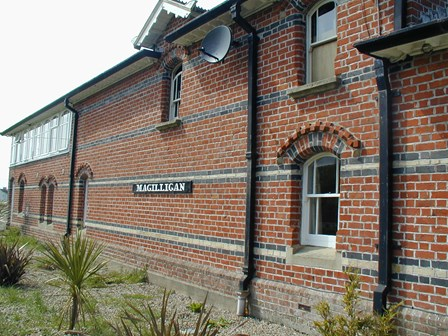Cavity wall tie replacement required at the Station House, Magilligan, Co. Derry, NI
