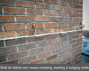 002 cavity wall ties failure crack in walls masonry brick dublin ireland belfast northern ireland NI
