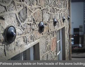 001a pattress plates tie bars retaining wall stone crack structural stability Armagh Belfast Northern Ireland NI