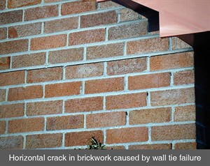 005 cavity wall tie failure replacement test check crack in wall belfast dublin northern ireland NI