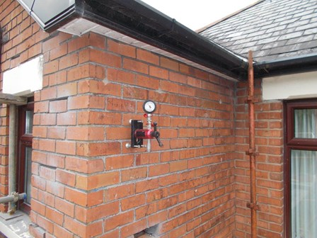 New cavity wall tie loading being tested